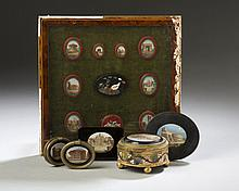 GROUP OF GRAND TOUR PIETRA DURA AND MICROMOSAIC ARTICLES, LATE NINETEENTH CENTURY.