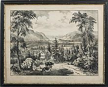 CURRIER & IVES. THE HUDSON HIGHLANDS.