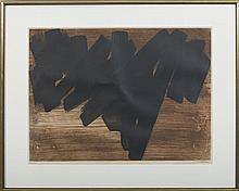 PIERRE SOULAGES (FRENCH, B. 1919). COMPOSITION IV, 1957.
