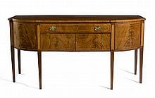 MASSACHUSETTS HEPPLEWHITE INLAID-MAHOGANY SIDEBOARD, NEWBURYPORT AREA.