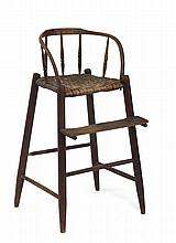 EARLY AMERICAN PRIMITIVE HIGHCHAIR.