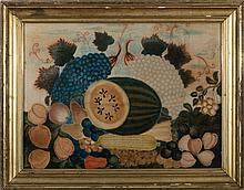 AUGUST STILL-LIFE LARGE VELVET THEOREM, CIRCA 1820-30.