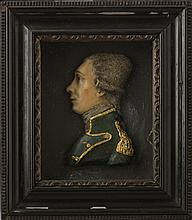 WAX PROFILE BUST PORTRAIT OF GENERAL LAFAYETTE, EARLY NINETEENTH CENTURY.