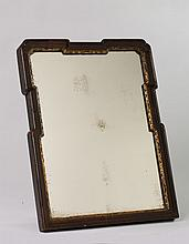 MAHOGANY AND PARCEL-GILT TABLE-TOP DRESSING MIRROR.