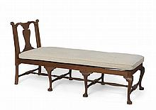 NEW ENGLAND QUEEN ANNE WALNUT DAYBED.