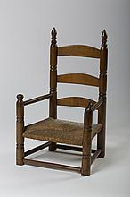 EARLY LADDERBACK CHILD'S CHAIR.