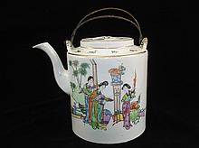 Republic period Chinese famille rose tea pot