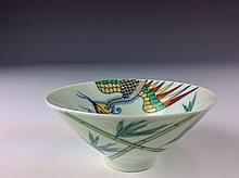 Elegant Chinese Doucai Bowl with phoenix Marked