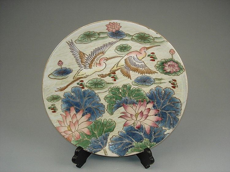 Chinese export famille rose porcelain plate
