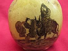 Chinese inside painting Snuff bottle - elder & youngster