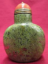 Chinese Nature seaweed color stone snuff bottle
