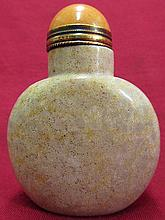 Natural Chrysanthemum texture Jasper Snuff Bottle