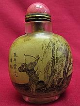 Inside-drawing Snuff Bottle-person & Scenery