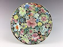 19C Late Qing period, Fine Chinese famille rose plate, marked