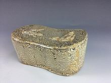 Antique 11 C. Chinese Porcelain Marblized Glaze Pillow