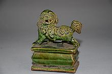 Longquan porcelain stamp with lion on top