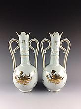 Pair Chinese Export Porcelain Vessels