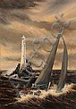 Marie Driscoll (20th/21st Century) Rambler Rounding the Fastnet oil on canvas