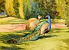 Mildred Anne Butler RWS RUA (1858-1941) Peacocks