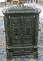 VICTORIAN CAST IRON HEATING STOVE CABINET,