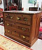 VICTORIAN MARBLE-TOP WALNUT CHEST, American, c.