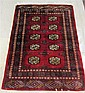 RED FIELD BOKHARA AREA RUG, Pakistani made,