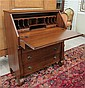 EMPIRE REVIVAL MAHOGANY SLANT-FRONT SECRETARY,