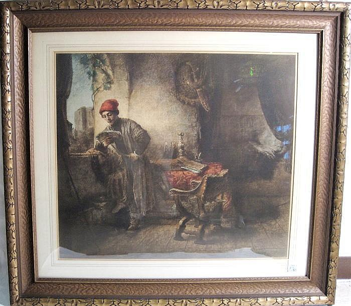 FRANZ SERAPH HANFSTAENGL COLOR LITHOGRAPH (German,