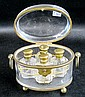 BACCARAT SCENT CASKET having a clear crystal oval