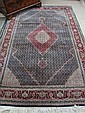 HAND KNOTTED ORIENTAL WOOL & SILK CARPET,