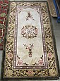 CHINESE SILK AREA RUG, hand knotted in traditional