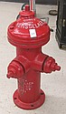 RED CAST IRON FIRE HYDRANT, Rensselaer Valve Co.,