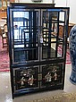 CHINESE EXPORT DISPLAY CABINET ON CABINET, the top
