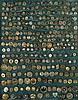 FRAMED BUTTON COLLECTION consisting of metal,