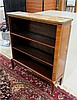 LOUIS XV STYLE OPEN-SHELF BIBLIOTHEQUE, mahogany