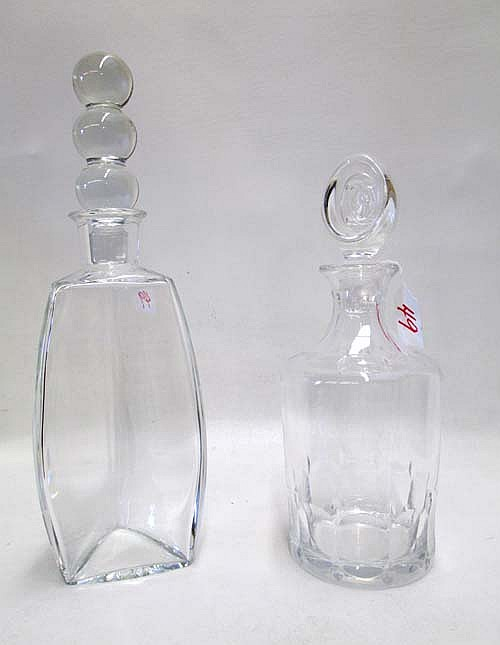 CARTIER AND BACCARAT CRYSTAL DECANTERS, 2 pieces: