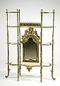 LATE VICTORIAN BRASS AND ONYX ETAGERE, American,