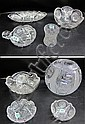 EIGHT PIECES AMERICAN CUT GLASS TABLEWARE, (1)