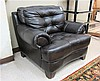 DARK BROWN LEATHER EASY CHAIR, Park Avenue model