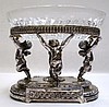PAIRPOINT SILVER PLATE AND GLASS CENTERPIECE BOWL,