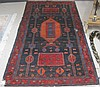 PERSIAN TRIBAL AREA RUG, hand knotted in geometric