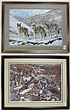 TWO LIMITED EDITION WOLF PRINTS: 1) Charles Frace (American, b. 1926),
