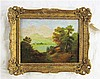 ATTRIBUTED TO FRANK PERCIVAL BROWN OIL ON PANEL