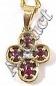RUBY AND DIAMOND PENDANT NECKLACE, by James Avery.