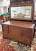 LIMBERT OAK DRESSER WITH MIRROR, Charles P.
