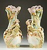 PAIR ROYAL DUX ART NOUVEAU PORCELAIN VASES, with