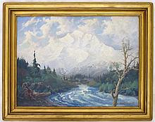WILSON F. ERSKINE OIL ON BOARD (American, 20th
