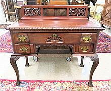 CHIPPENDALE REVIVAL MAHOGANY WRITING DESK,