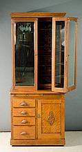 A RARE OAK DOCTOR'S CABINET attributed to the W.D.