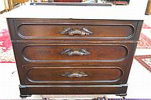 VICTORIAN MARBLE-TOP CHEST OF DRAWERS, American,